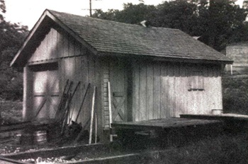 Handcar and tool shed drawings in 1:29 scale