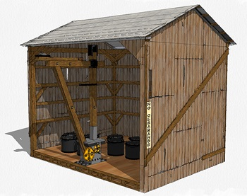 Bucket coaling station drawings in 1:29 scale