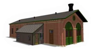Enginehouse drawings in 1:29 scale