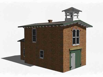 Build a small firehouse in 1:29 scale