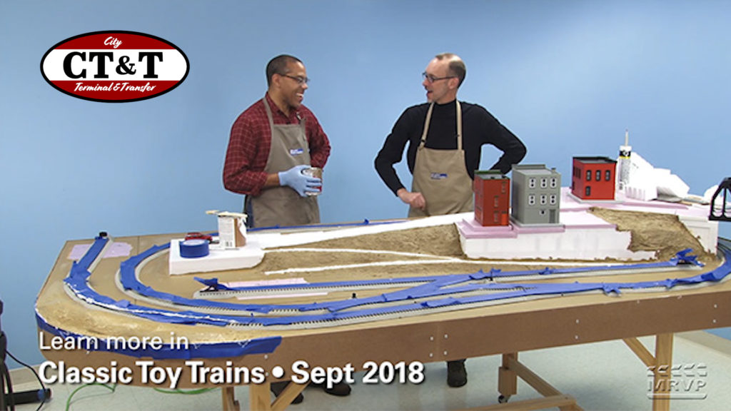 David and Kent with their model layout.