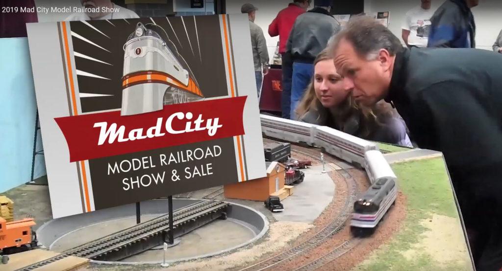 Scene from model train show