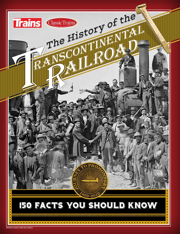The cover shows a black and white photo from the golden spike ceremony