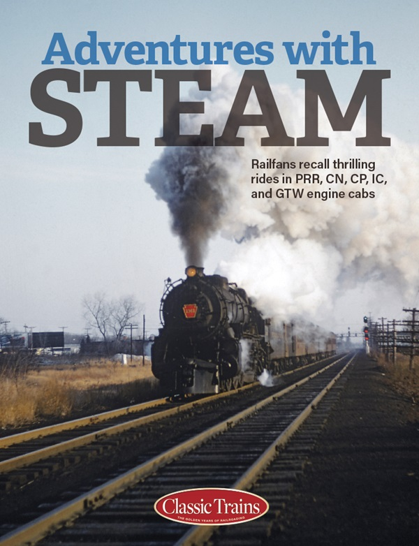 the cover shows a vintage color photo of a steam engine