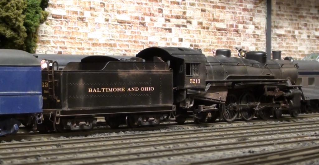 B&O Pacific model locomotive