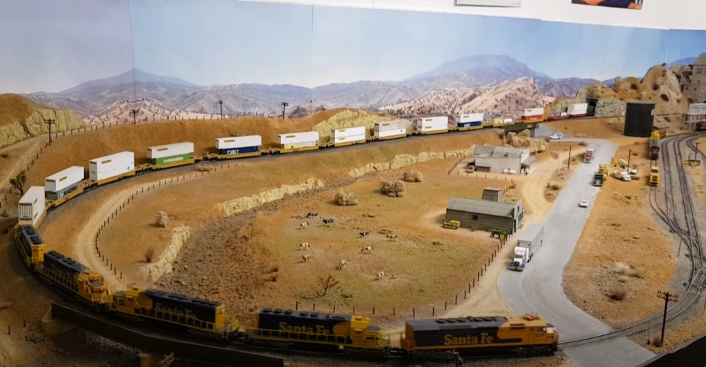 Overall view of N scale layout