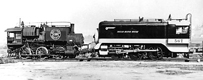 Southern Pacific 0-6-0 switchers Nos. 221 (Rogers, 1881) and 567 (Baldwin, 1903)