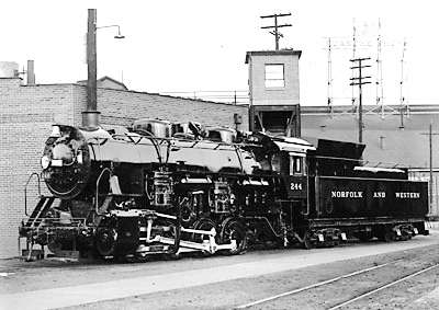 Norfolk & Western 0-8-0 switcher No. 244