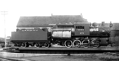 Central Railroad of New Jersey camelback 0-8-0 switcher