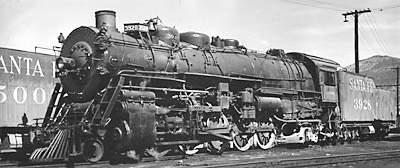 Santa Fe 2-10-2 No. 3928