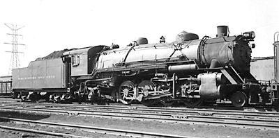 Baltimore & Ohio light Mikado No. 4500