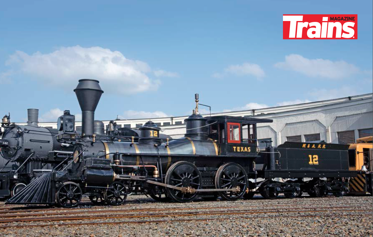 4-4-0 THE TEXAS WAS RESTORED IN 2017 FOR THE ATLANTA HISTORY CENTER.