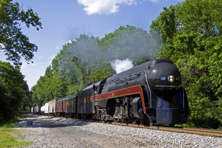 Streamlined steam locomotive