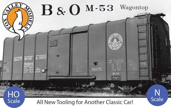 Fox Valley Models BO Wagon Top Boxcar
