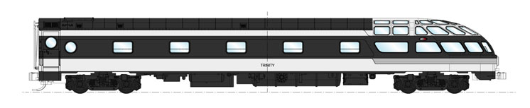 Kato N scale Canadian National Trinity lounge-observation car