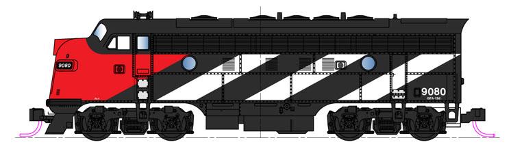 Kato N scale EMD F7 diesel locomotive