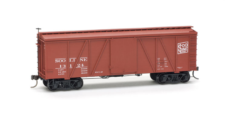 Accurail 1176 HO RI 36 Fowler Wood Boxcar