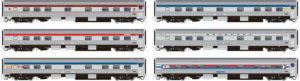 Rapido Trains HO scale Budd Manor-series 4-section, 4-roomette, 5-double-bedroom, 1-compartment sleeper