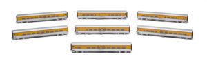 Rapdio Trains HO scale Denver & Rio Grande Western Ski Train passenger cars
