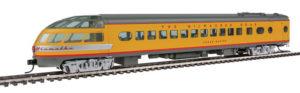Wm. K. Walthers HO scale Milwaukee Road yellow-and-gray Hiawatha passenger cars