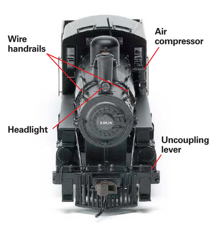 The model features wire grab irons and handrails wire uncoupling levers and working blackened metal valve gear