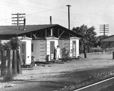 Railroad operator houses next to the Salton Sea