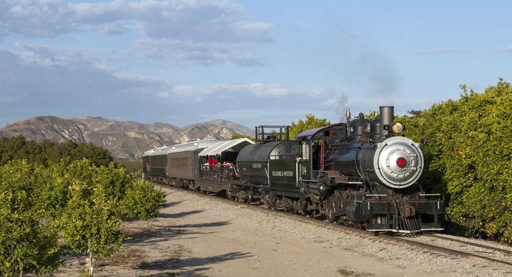Steam-powered tourist train