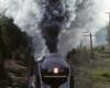 A train passing through a narrow stretch