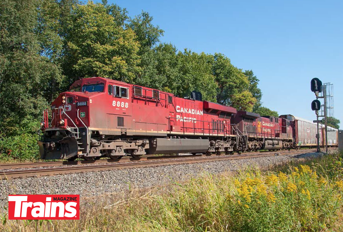 Canadian Pacific Evolution series ES44AC No. 8888 in Wisconsin.