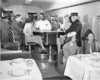 People in a restaurant diner car