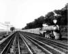 a streamline locomotive passenger train