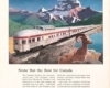 Advertisement featuring rear of streamlined passenger train with wildlife