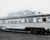 Side view of dome observation car