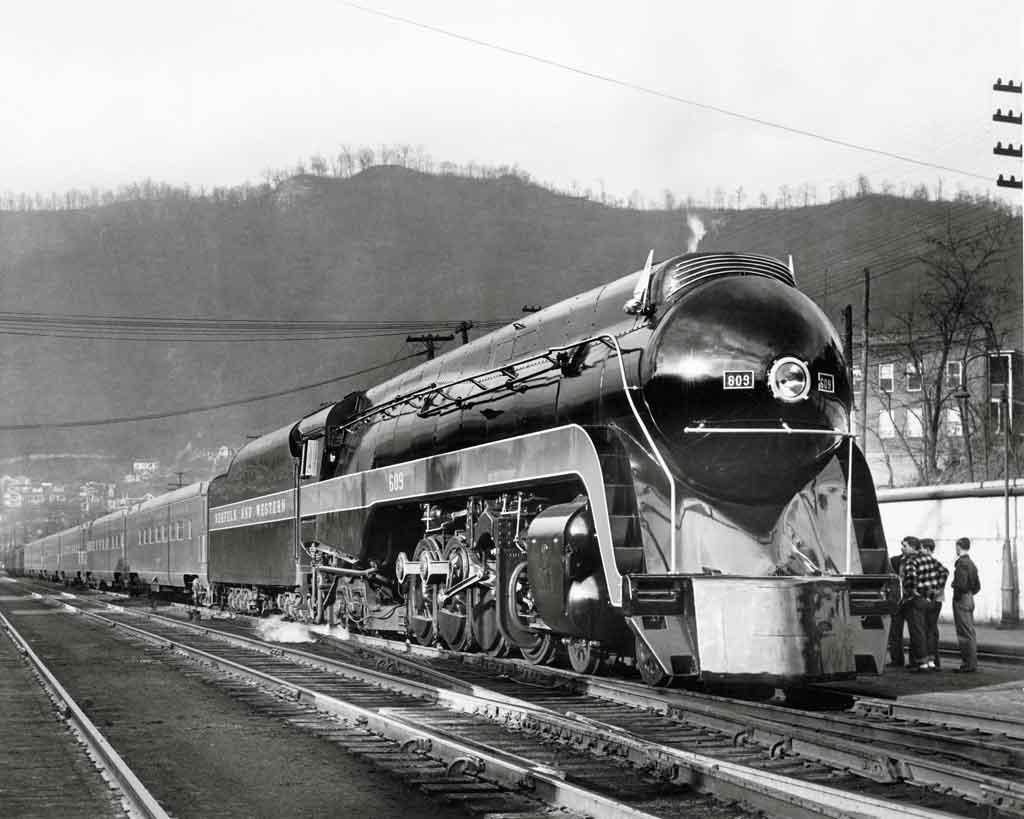 a streamlined passenger train