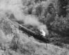 an aerial view of a steam passenger train