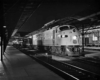 Diesel powered passenger train in station