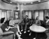 Passenger sit in observation lounge