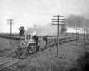 Steam locomotive with five heavyweight passenger cars
