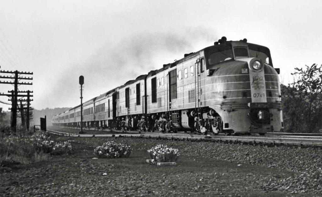 a diesel passenger train