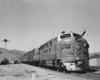 A diesel pulling passenger cars