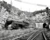 A train exiting a tunnel