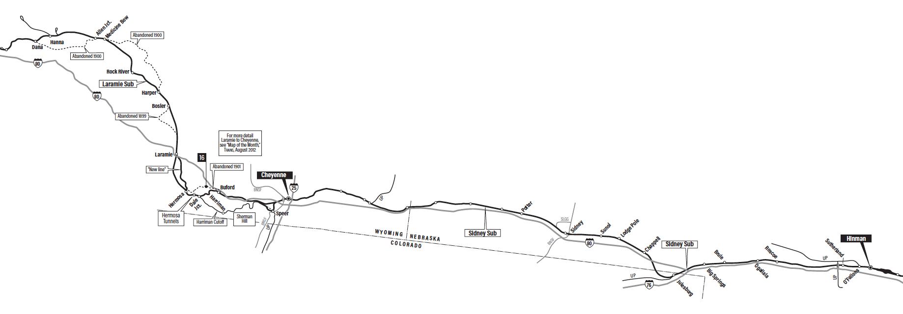 Transcontinental Railroad Map