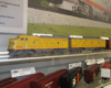 MTH also displayed an A-B set of F units in S gauge, along with a variety of S gauge rolling stock.