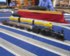 Lionel's new O gauge Cass Scenic RR logging train set includes huge logs and a very small caboose.