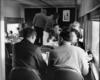 diners eating in a dining car