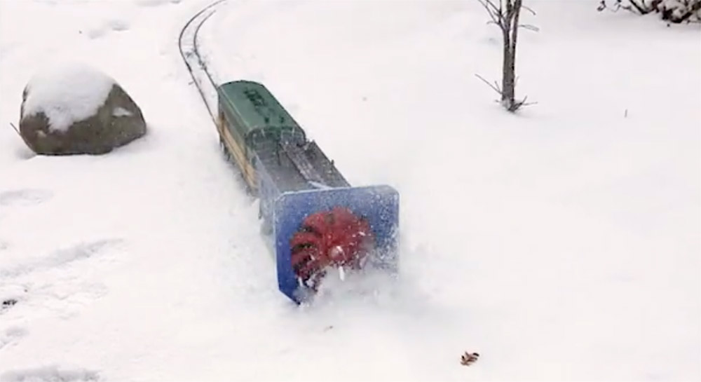 custom-built rotary snow plow