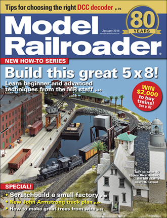 Model Railroader's 80th anniversary issue, January 2014