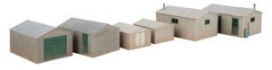Wm. K. Walthers Inc. HO scale modern metal yard sheds