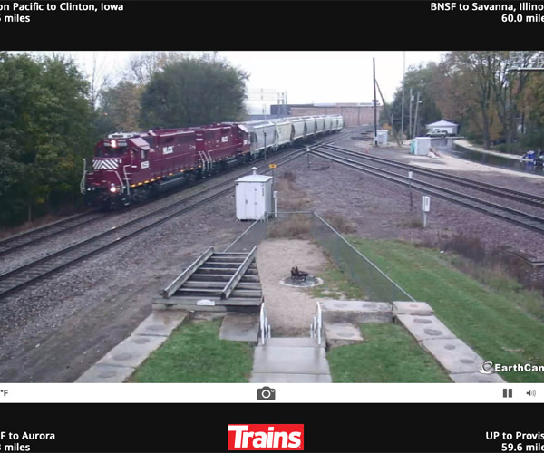 Web Cam of Railroad with trains
