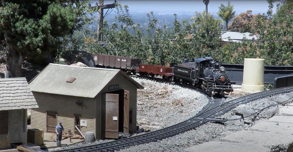 train on the mystic mountain railroad